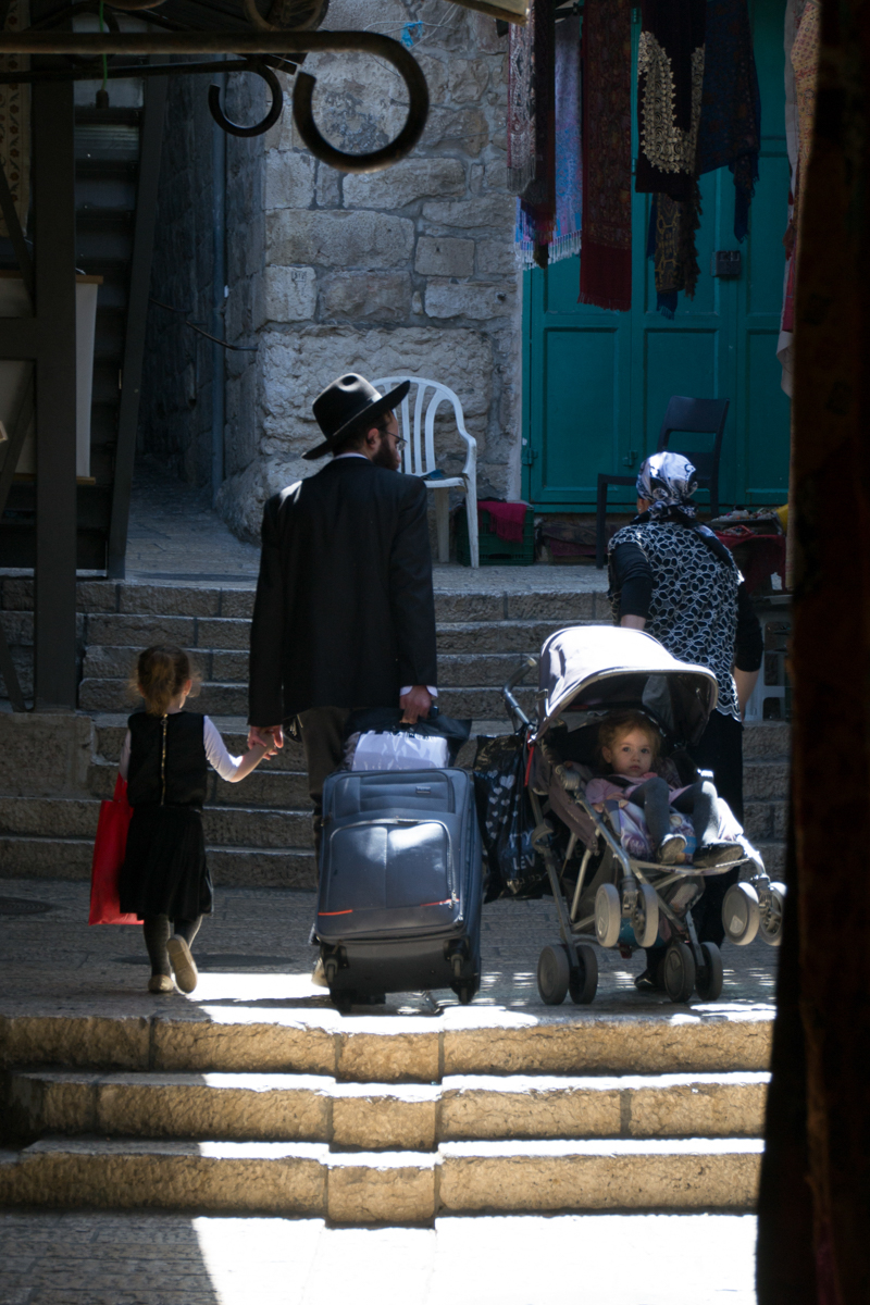 Israel - Jewish family in the light Jerusalem- 1200px