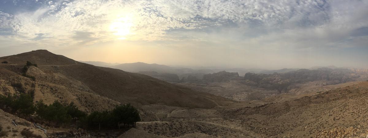 Israel - Landscape panorama Jordan desert- 1200px