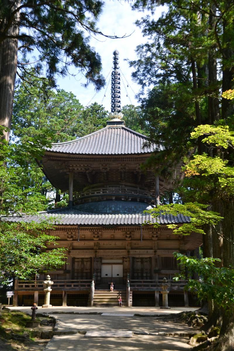 Japan - Koyasan temple in forest