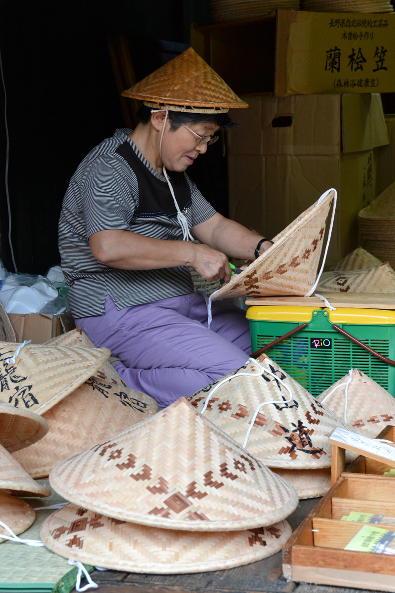 Japan - Making reed hats younger woman