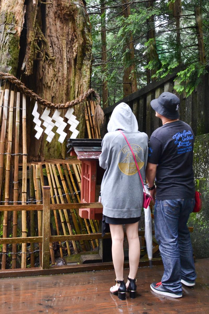 Japan - People at Shinto shrine